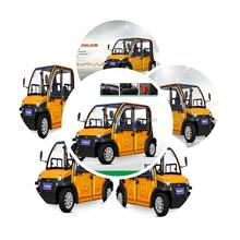 4 doors 4 seats Smart electric car