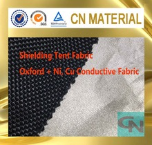 RFID blocking Ni, Cu plated polyester conductive fabric for shielding tents