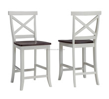 Modern outdoor style solid wood bar stool XY3149