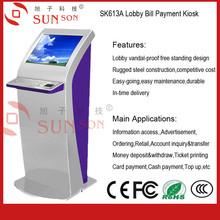 Self Service Kiosk With Plam Vein Scanner Fingerprint Reader PC Keyboard Personal Identification