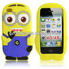 2013 hot selling 3d despicable me silicon shell for iphone 4 case ,in stock selling