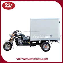 New 3 wheel motorcycle with Insulated closed carriage