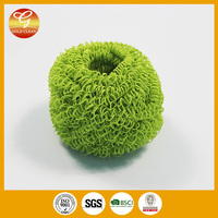 Kitchen microfibre scrubber cleaning ball/brush