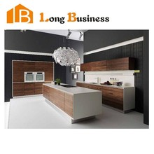 LB-JL1088 Particle board melamine Quartzstone sunshine modern Wholesale Appliance Custom Kitchen Cabinet Furniture