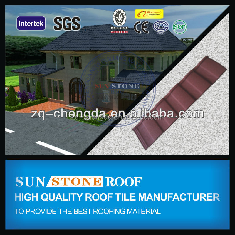 2015 new advanced cheap building construction material roof tile