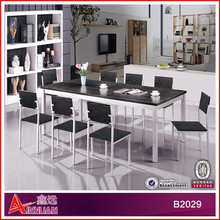 B2029 dining room furniture / recatangle dining table with 8 chairs / new classical wooden dining room set