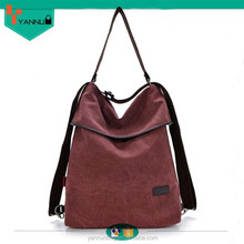 vintage factory best selling contracted color life custom made logo lady canvas handbag for sale