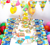 Minions Theme Party Tableware Set Baby Shower Party Decorations