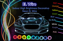 High Quality 10 Colors Insulated Brilliant 6mm Diameter EL Wire