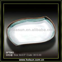 "8"" Special design stoneware serving tray SFP060"
