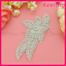 fashion wedding dress decorative rhinestone crystal decoration pieces WRA-516