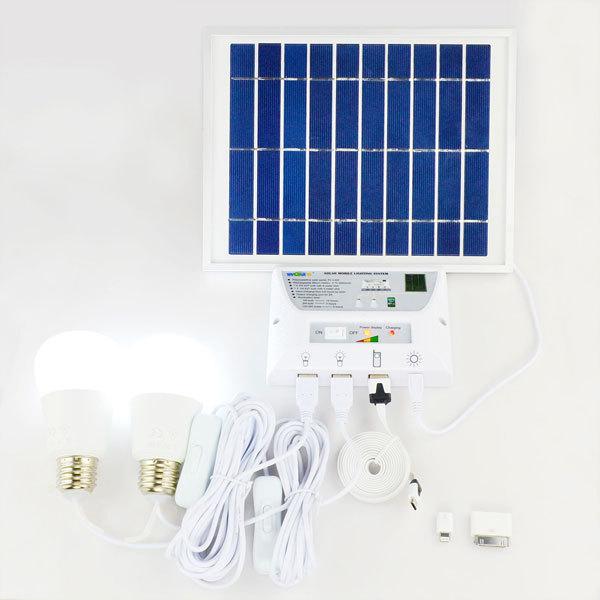 Sistema de energia solar para uso doméstico com a luz solar, carregador de celular YH1002