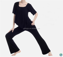Yoga top hot suit factory direct sales for sexy girls women ladies top selling pure colour yoga suit full of vertical sense