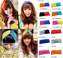 Headbands for Women USA Trendy New Two-tone Knot Cotton Head wrap Headband