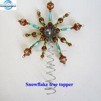 Metal vintage snowflake Christmas tree topper