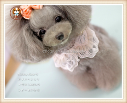 wholesale pink cotton weave trimming collar for dog