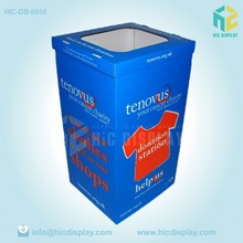 cardboard clothing recycling waste bin for sale