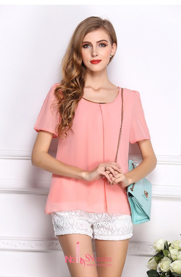 Розовые Блузки Купить