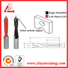 Through hole Solid carbide dowel drill bit for woodworking