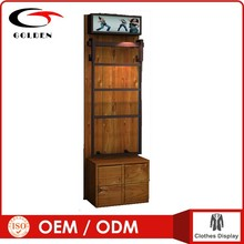 China manufacturers 4 way clothes display rack showcase for clothing retail store