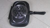 32cm dessini aluminum die cast die-cast non-stick non stick double 2 two side face frying grill pan