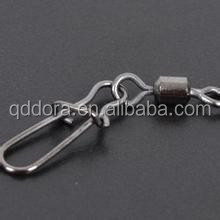 Fishing Rolling Swivels ball bearing fishing swivel with two solid ring with- interlock snap