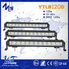 Y&T 120w ip68 6000k driving led light bars off road steering round