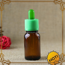 on-time shipment 15 ml amber glass bottle with dropper cap childproof tamper cap