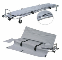 Fold Funeral Mortuary stretcher with body cover