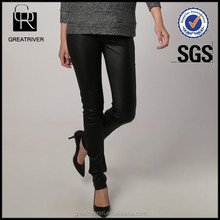 Women Leather Trouser/pant in black