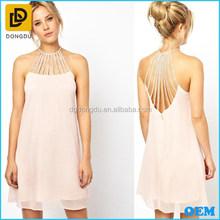 Women Sleeveless Hollow Out Formal Short Evening Dress 2014