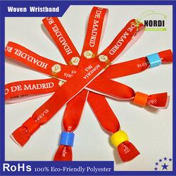 Company Custom Festival fabric wristbands, woven bracelets