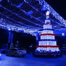 Blue 100 LED Net Mesh Fairy Light Twinkle Christmas Fairy Lights For Party US/110V TK1128