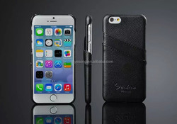 wholesale new arrival genuine leather back case for iphone 6