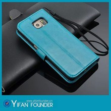 Fashionable leather wallet flip case cover for samsung galaxy s6