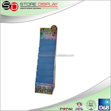 Point of purchase floor display stand with plastic clip easy assemble