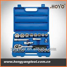 """portable toolkits of 1/2""""Dr.23pcs drive socket set handle tools"""
