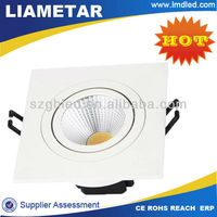 Super Brightness Dimmable 1800LM Cut hole 125mm Cree Chip 20w cob LED square recessed downlight