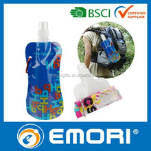 2015 hot selling promotional BPA FREE / EU foodgrade Safety / LFGB / FDA PET flexible bottle