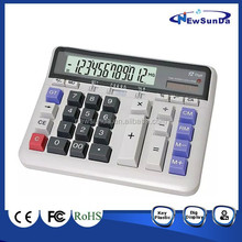 Desktop Calculator with 12 Digits LCD Display (NS-213-BL)