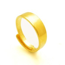 Smooth han edition lovers ring The adjustable ring gold-plated color preserving fashion and personality