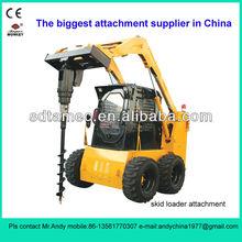 skid loader auger (auger for skid steer loader,bobcat attachment,skid loader attachment