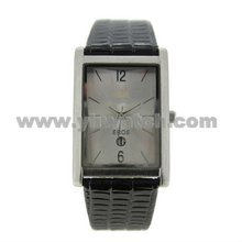 Customized square sharp men watches ,alloy watch men with leather strap japan movt