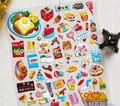 La costumbre nuevos dibujos animados en 3d etiqueta hinchada/etiqueta de los alimentos
