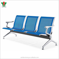 Airport waiting room stainless steel seating bench