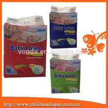 Amour de bébé soins de la peau super douce l'incontinence couches pour bébé à bas prix