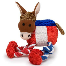 Personalized talking plush pet toy with two cotton rope
