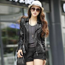 2014 New Fashion Women Leather Jacket Plus Size Pu Leather Motorcycle Jacket Elegant Slim Short Jackets Free Shipping A229