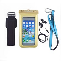 China wholesale pvc waterproof mobile neck hanging bag for iphone