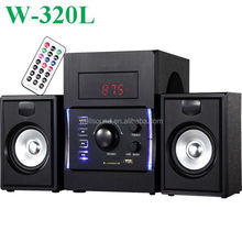 Hot sale!!! 2.1 wooden speakers 2.1 usb computer speakers hight quality with USB/SD/FM/Mini Remote Control